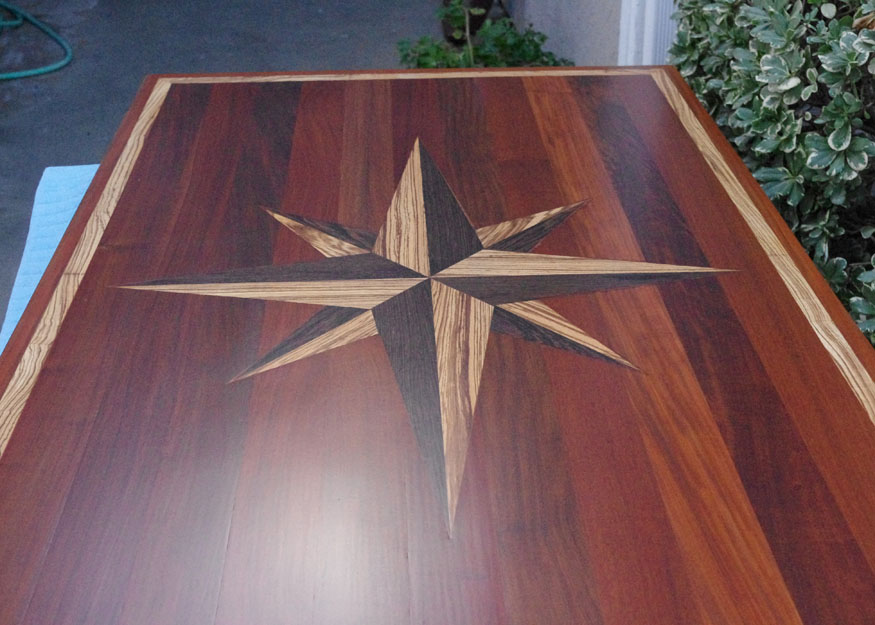 Superior Custom Table Top   Hand Cut Inlay